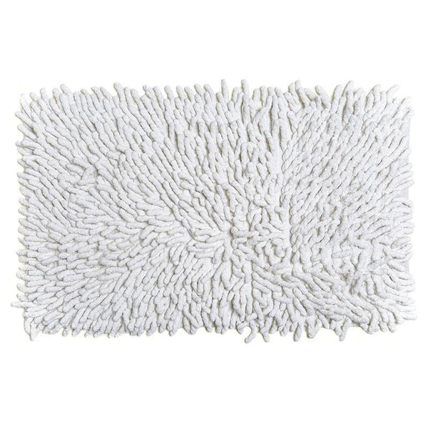 Cotton Chenille Bath Rugs | White
