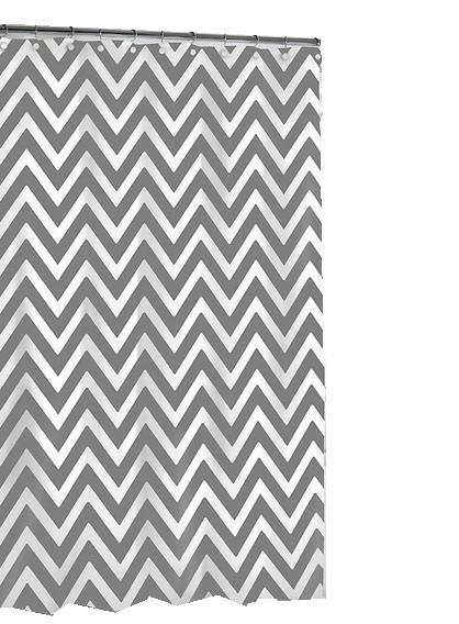 SHOWER CURTAINS - Black and white chevron shower curtain
