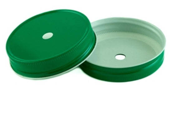 Mason Jar Lids w Straw Hole - Assorted Colors - Dusty Junk.com