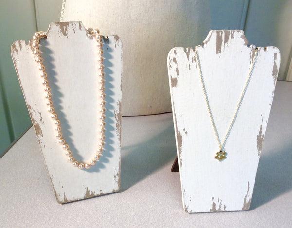Distressed Wood Necklace Display Stand: Small - Dusty Junk.com
