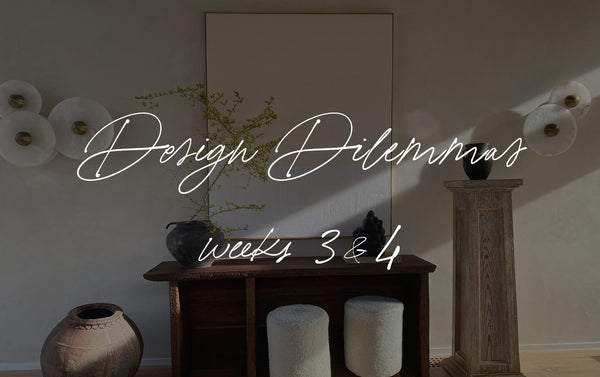 Design Dilemmas | Weeks 3 & 4