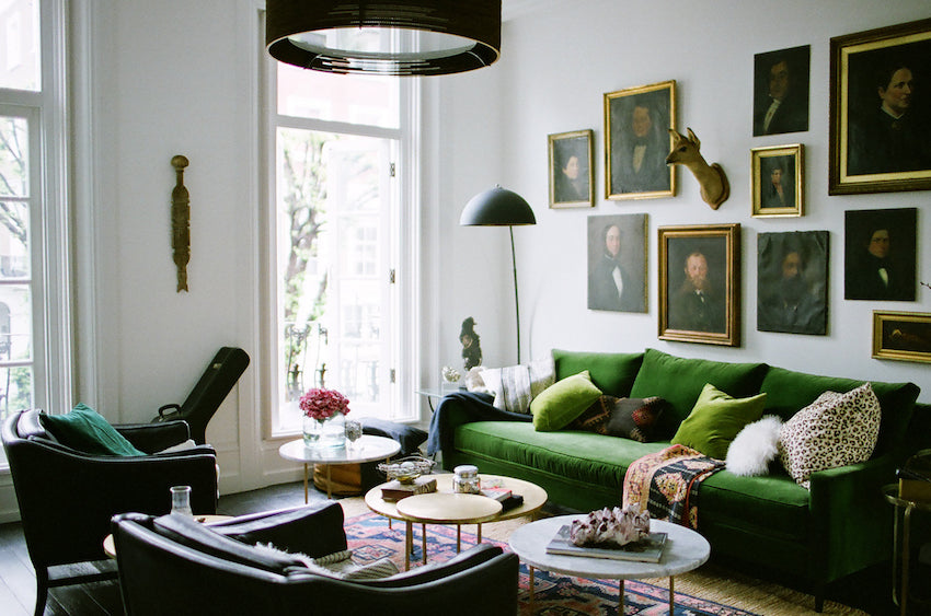 living room in Heather's Victorian Notting Hill flat