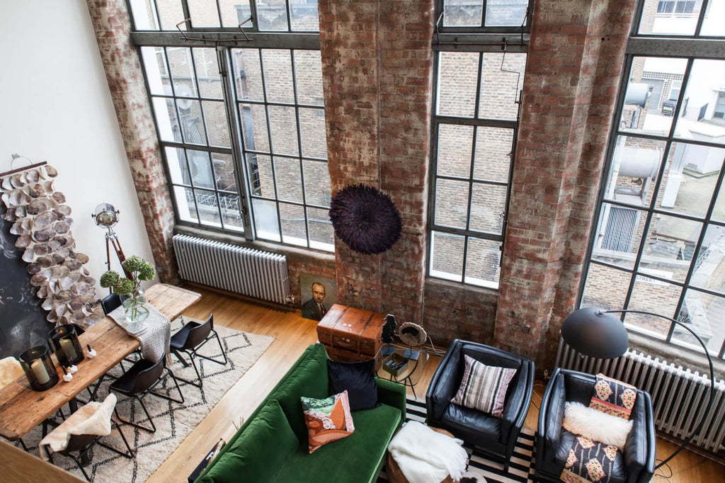 Heather's Clerkenwell apartment with large industrial windows