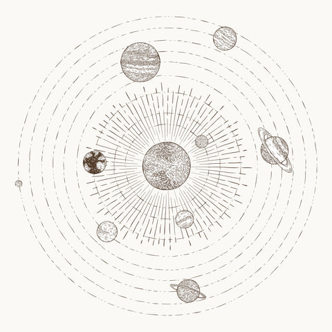 a sketch of the solar system