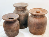 Tibetan Butter Jars - set of 3