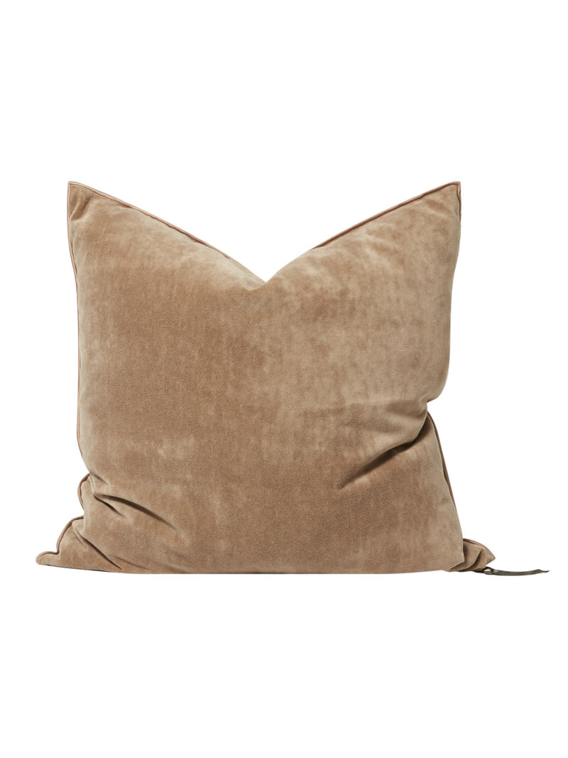 MDV Vintage Velvet Pillow in Blush