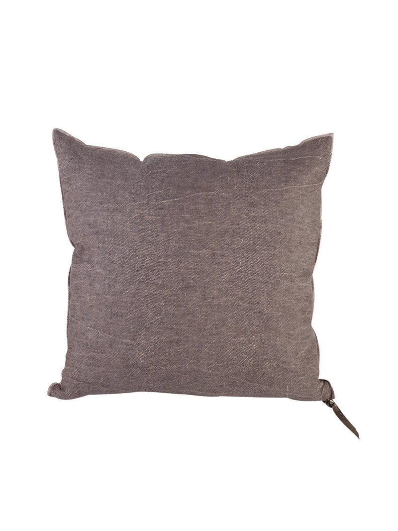 MDV Washed Linen Pillow in Grey / Mushroom