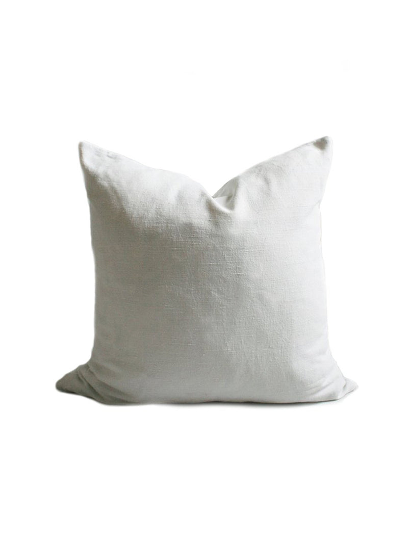 Antique Linen Pillow in White