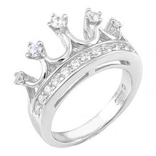 Load image into Gallery viewer, Sterling Silver Crown Ring