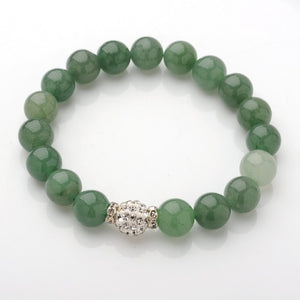 Pink and green Natural Gemstone bracelets