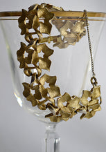 Load image into Gallery viewer, Vintage Puccini Heavy Gold Tone Ivy Leaf and Vine Link Bracelet