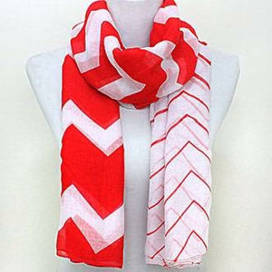 Red and White Scarf