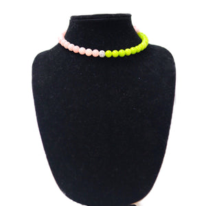 Pink and Green Wrap Necklace