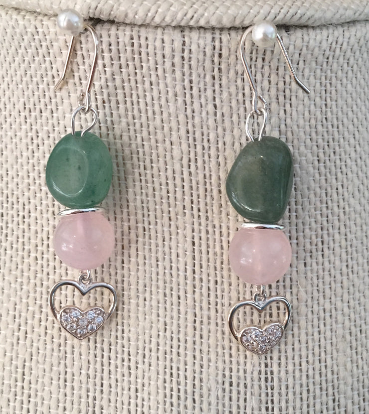Rose Quartz and Averturine Set
