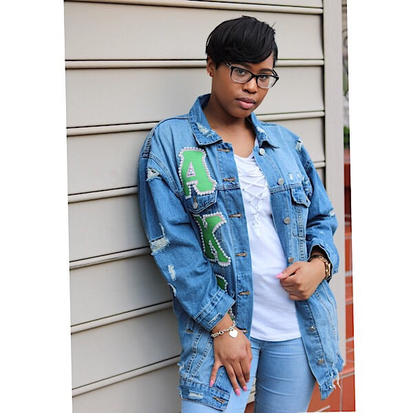 Large Distressed Jean Jacket