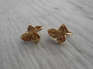Vintage Ivy Leaf Earrings