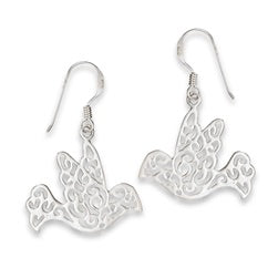 STERLING SILVER FILIGREE DOVE EARRING