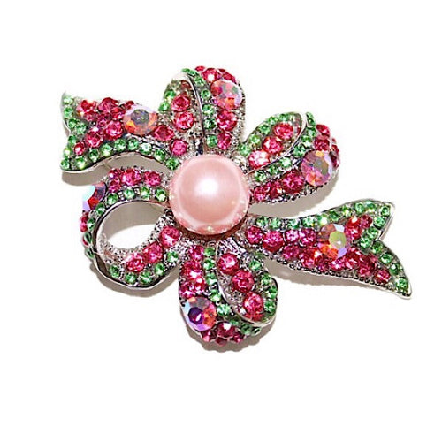 Pink and Green Pearl Ribbon