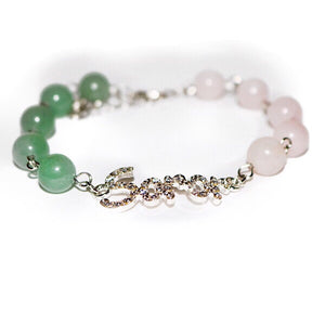 Green and Pink Wrist Bling