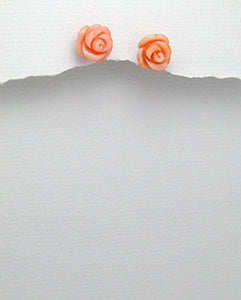 Pink Coral Rose Earrings