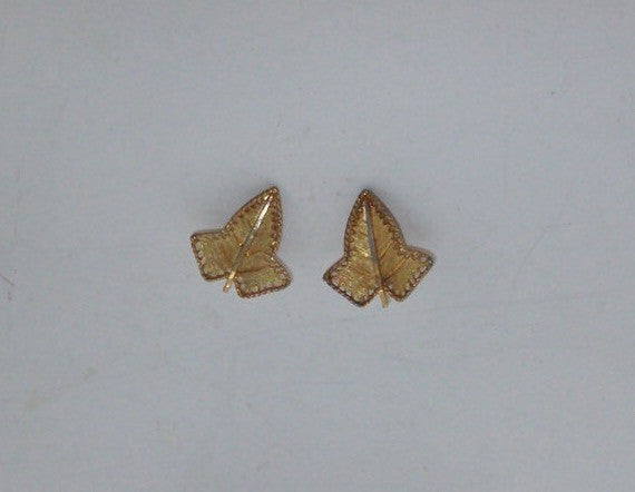 Gold Ivy Leaf Clip Earrings