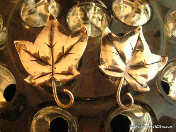 Heidi Studio Hand Wrought Sterling Leaf Earrings