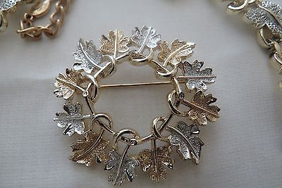 Vintage 3 Piece Ivy Necklace Set