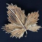 Large Gold Tone Ivy Brooch