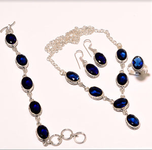 The Cindy Tanzinite Jewelry Set
