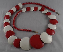 Load image into Gallery viewer, Vintage Red and white Necklace