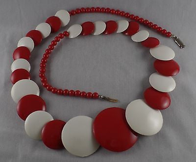 Vintage Red and white Necklace