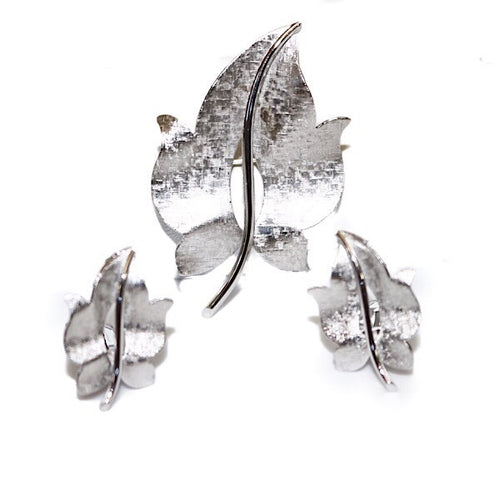 Sterling Ivy Brooch Set