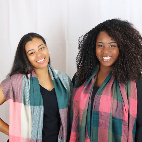 Pink and Green  Scarves