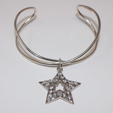 Load image into Gallery viewer, Crystal Sterling Silver Star Bracelet