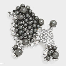Load image into Gallery viewer, Black Pearl Poodle Brooch