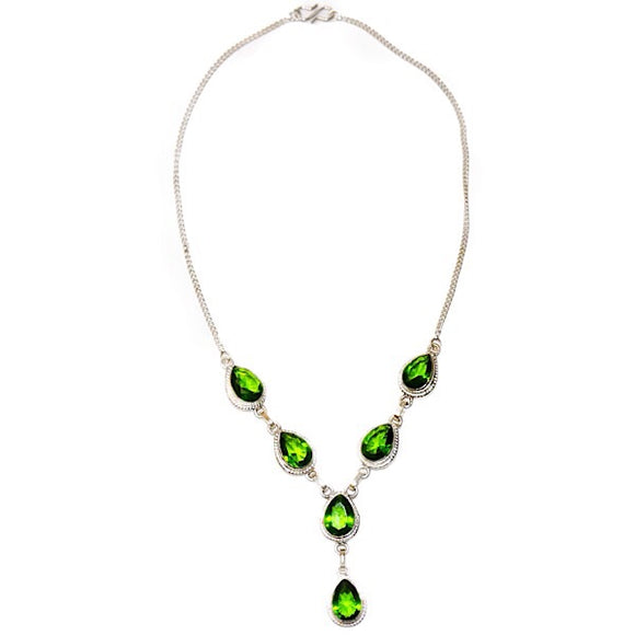 Sterling Silver Peridot Set