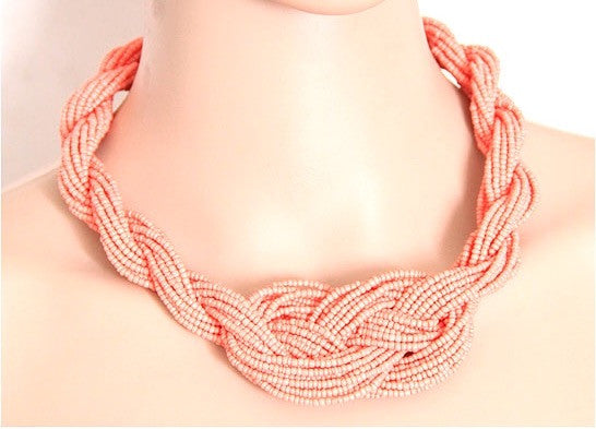 Handmade Bohemian Style Weave Necklace