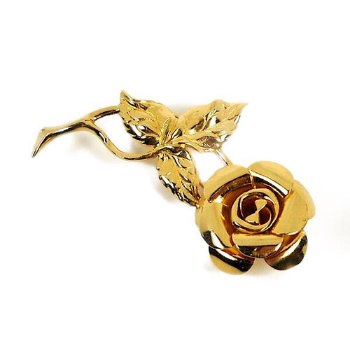 3D Rose Brooch - Beau Sterling Silver