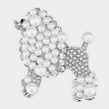 Load image into Gallery viewer, Pearl Poodle Brooch