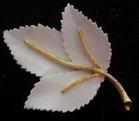 White and Gold Ivy Pin