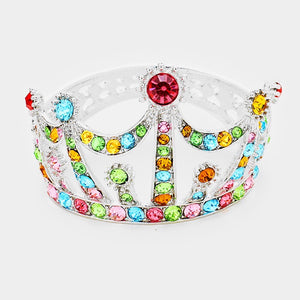 BUBBLE STONE CLUSTER CROWN HINGED EVENING BRACELET