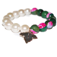 Load image into Gallery viewer, Sterling Gemstone and Shell Pearl Bracelets