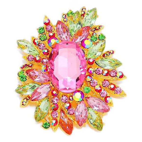 Burst Crystal Brooch