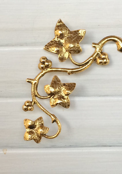 Golden Ivy Brooch