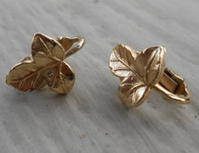 Load image into Gallery viewer, Vintage Ivy Leaf Earrings