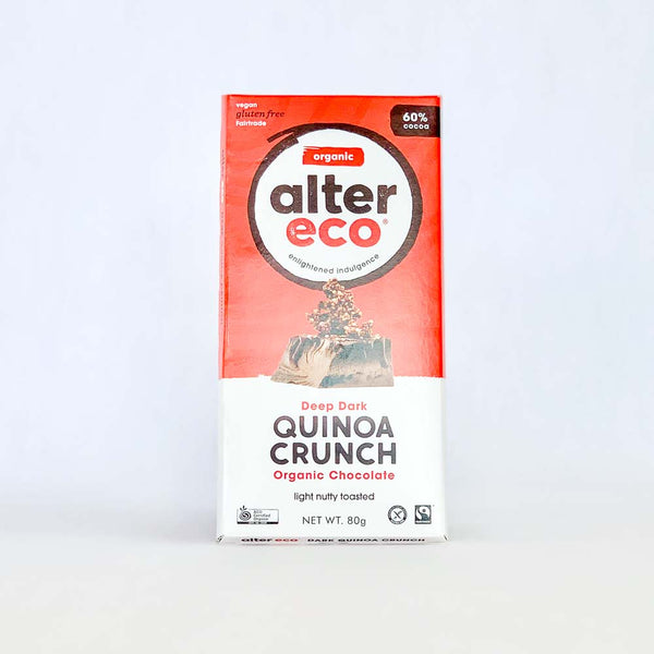 Alter Eco Chocolate Dark Quinoa 80g