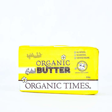 Org Times Butter Salted 250g