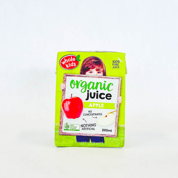 Whole Kids Certified Organic Apple Juice 200ml