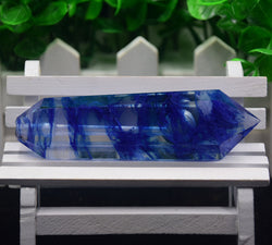 FLOWING BLUE NATURAL HEALING CRYSTAL PIPE