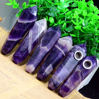 AMETHYST NATURAL HEALING CRYSTAL PIPE